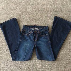 Zara flare bell bottom jeans sz 26